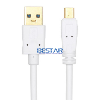 (200pcs/lot) )Auksu USB 3.0 TYPE A Male AM Mini 10Pin B Pratęsimo Kabelis USB 3.0 vyrų į Mini USB 10 pin 10p cable