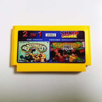 Battletoads/Battletoads&Double Dragon 2in1 Big Yellow 8 bitų 60 smeigtukai Žaidimo Kortelės